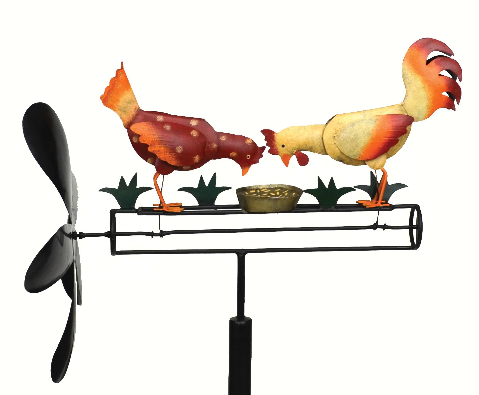 Pecking Chickens Whirligig