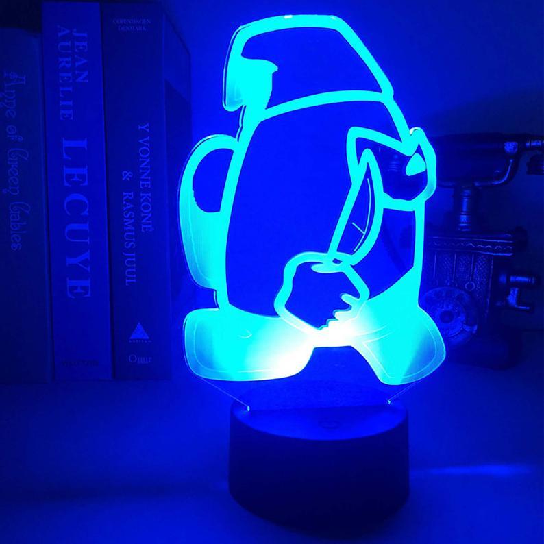 Among Us Impostor Night Lamp with RGB remote