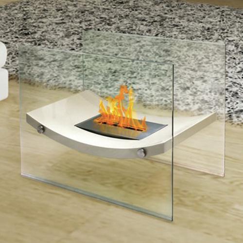 Broadway Floor Standing Fireplace, Beige