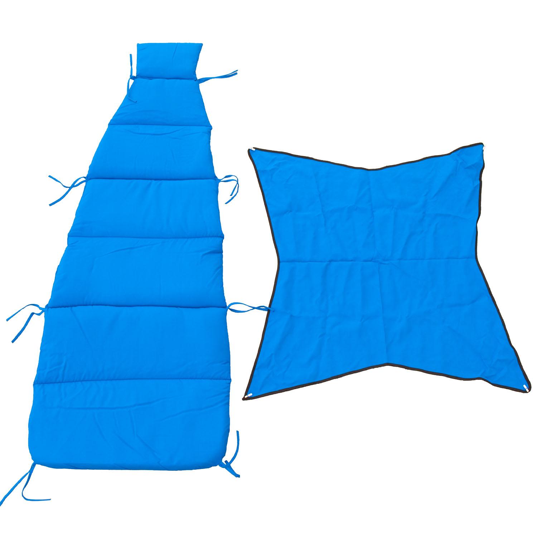 Cloud-9 Royal Blue Pad/Pillow/Canopy Set