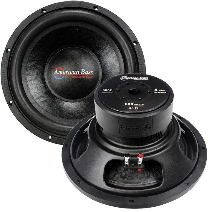 "American Bass 10"" woofer 600 watts max 4 Ohm SVC"